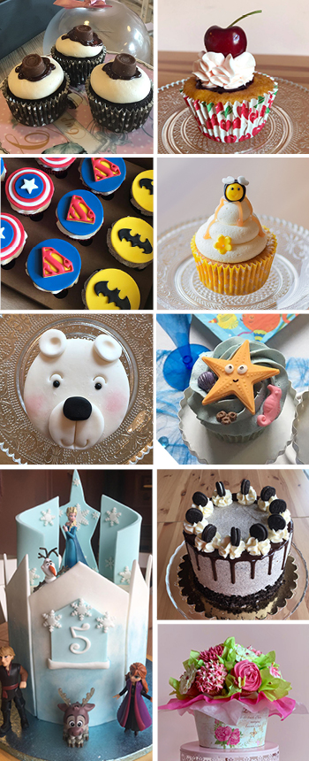 Order your cupcakes, cakes and cookies at the Magical Cafe in Basel, for all occasions